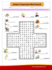 Actions progressive word search