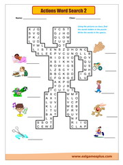 Actions word search 2