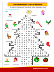 Christmas Word Search medium