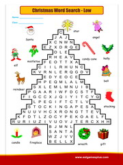 Christmas word search low