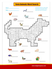 Farm-Animals word search