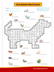 Farm-Animals word search