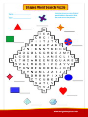 Shapes Word Search